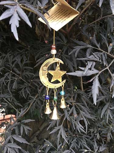 Reclaimed Brass Moon and Star Chime