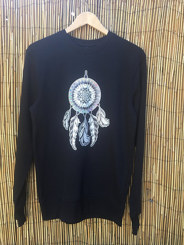 Zoti Dream Catcher  Organic Sweat In Black