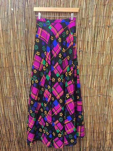 Vintage 1970's Flower Maxi Skirt
