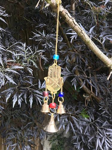 Reclaimed Brass Hamsa Chime