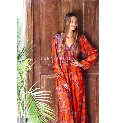 Amara Boho Dress Orange