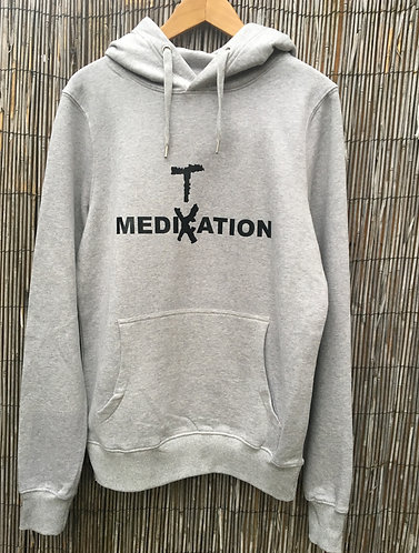 Zoti Medication Meditation Organic Hoodie Grey