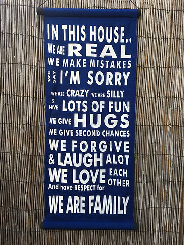 We Are Family Inspirational Banner