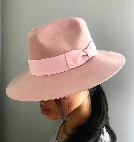Gladwinbond Grace Fedora in Baby Pink