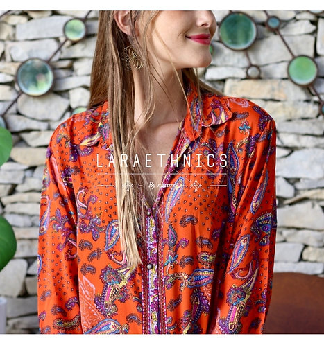 Latika Boho Shirt Burnt Orange