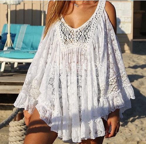 Ibiza Lace Poncho
