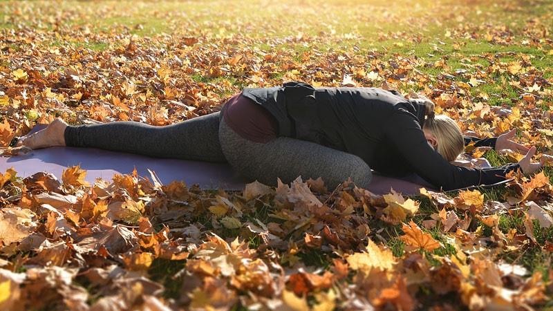 Yin Yoga hip opener pose - Swan
