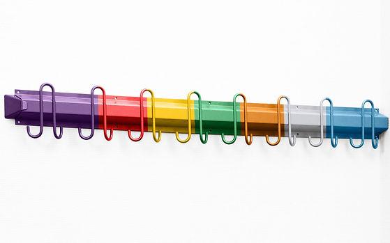 Lakkanlegg som håndterer aller RAL farger. Knaggrekke. Sykkylven Stål AS