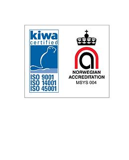 Sykkylven Stål AS Kiwa  ISO-sertifiseringer