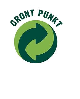 Medlem av Grønt Punkt Norge for håndtering av emballasje.