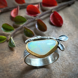 opal and twig ring