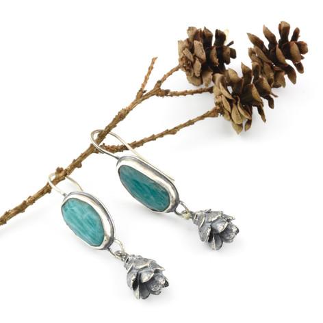 Amazonite and Hemlock Earrings