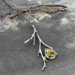 Twig and Vesuvianite Necklace