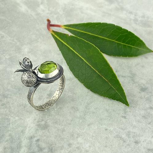 Botanical Peridot Ring