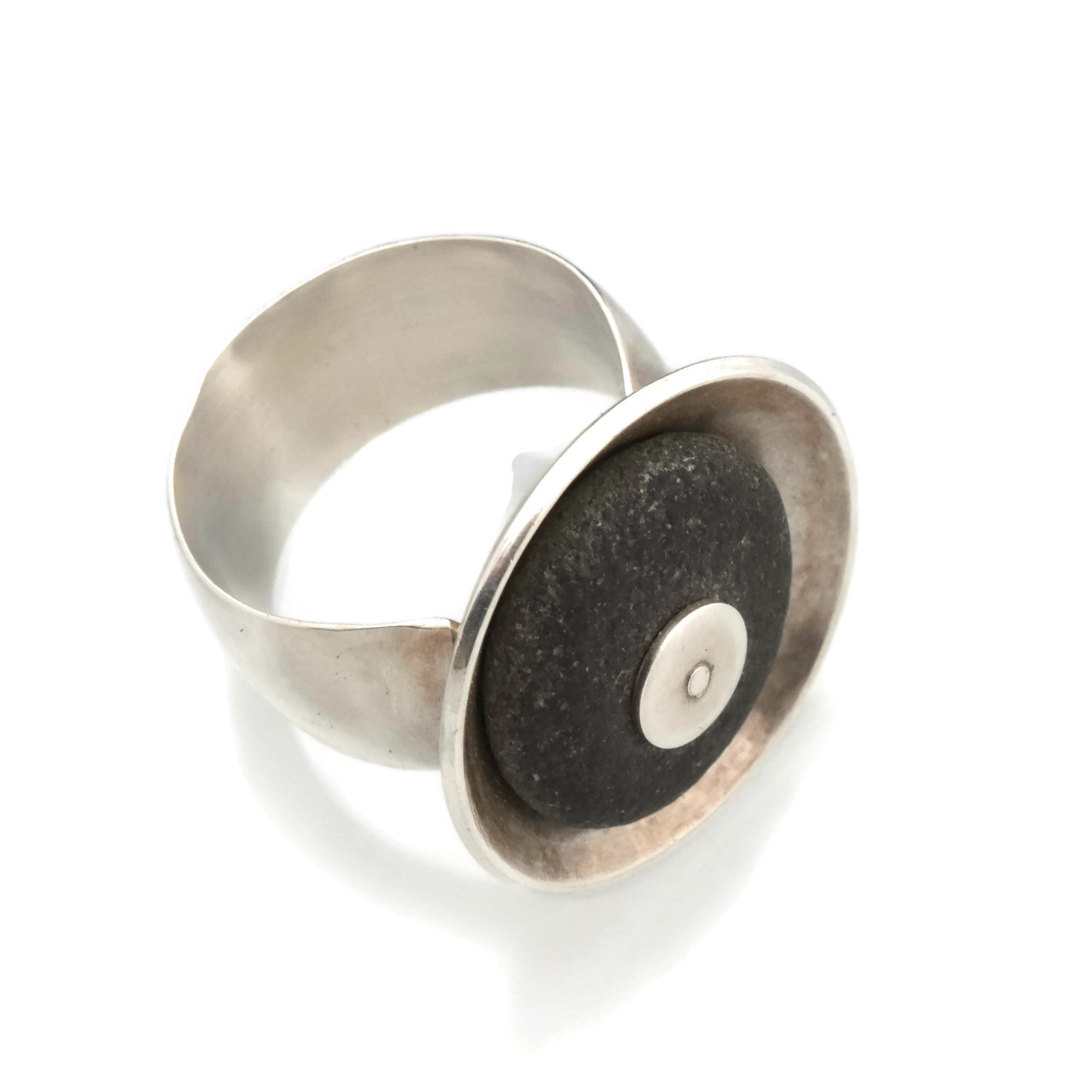 Riveted Rock Ring
