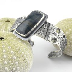Leland Blue and Sea Urchin Cuff Bracelet