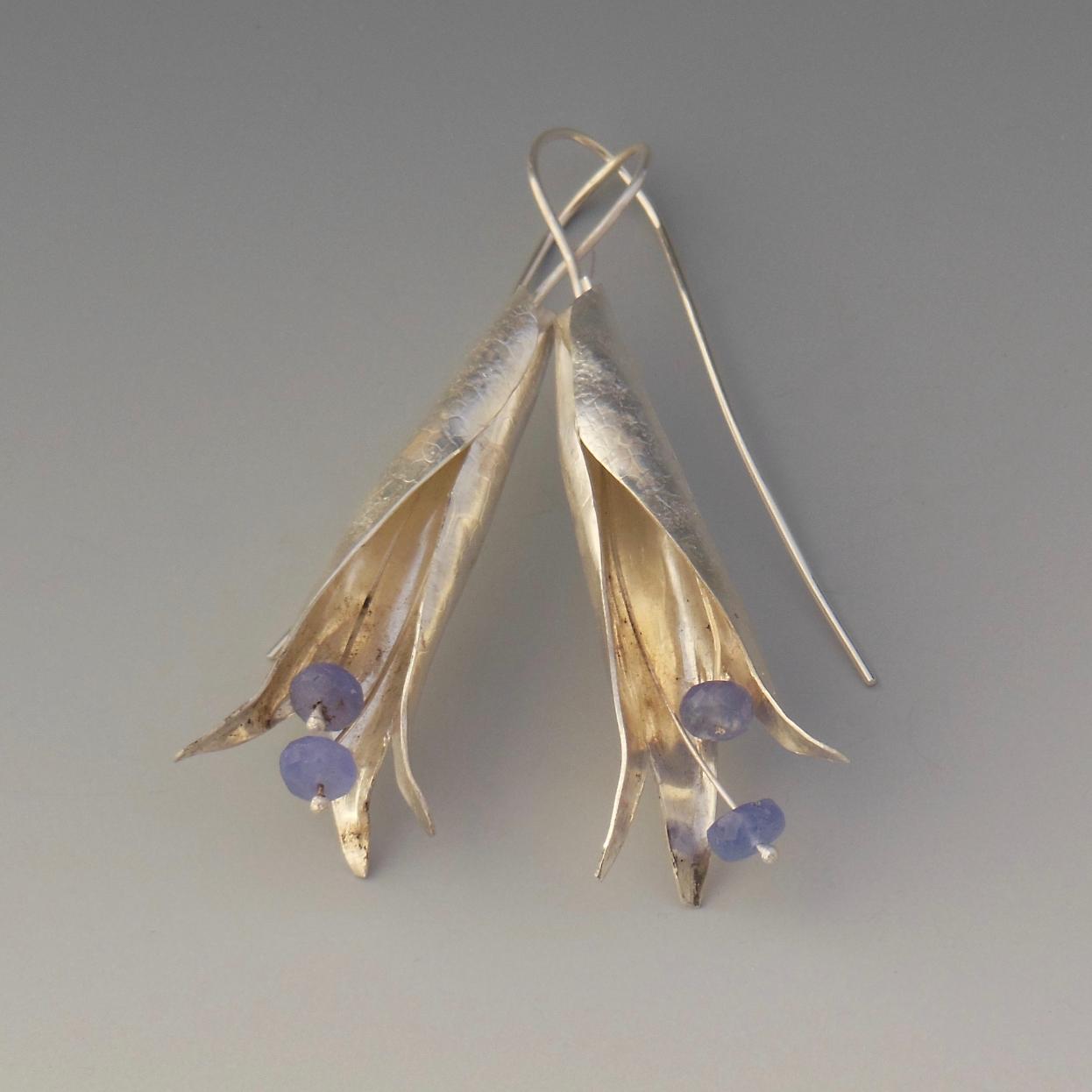 Tanzanite Botanical Earrings