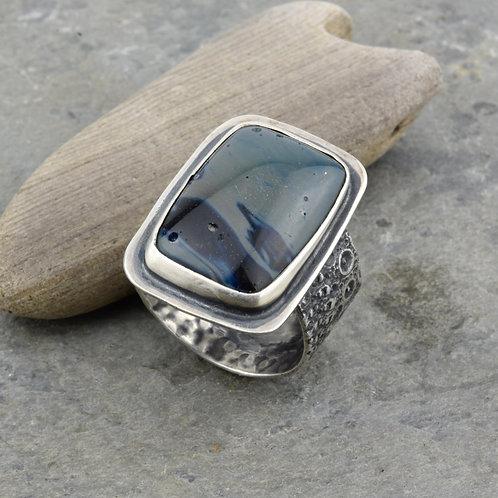 Leland Blue Stone and Sea Urchin Ring