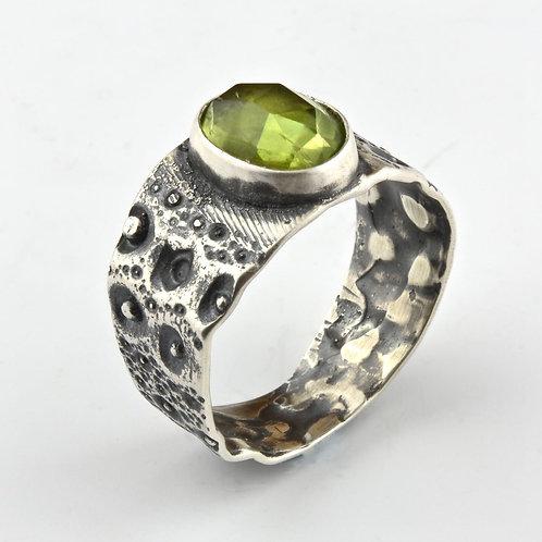 Peridot Sea Urchin Ring