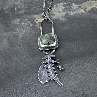 Prehnite Botanical Necklace