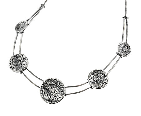 Five-Disc Hinged Sea Urchin Necklace