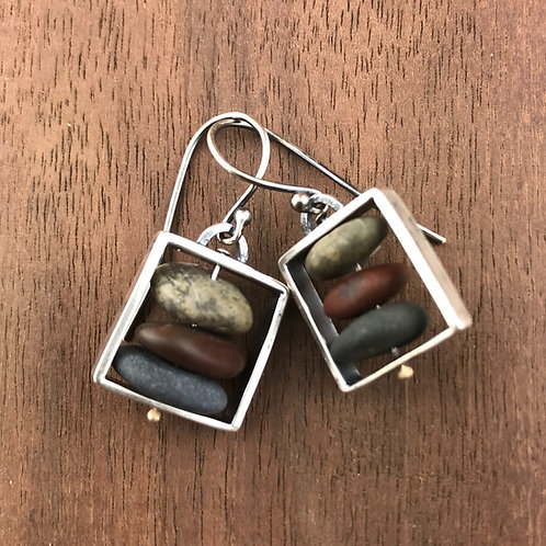 Small Cairn Box Earrings