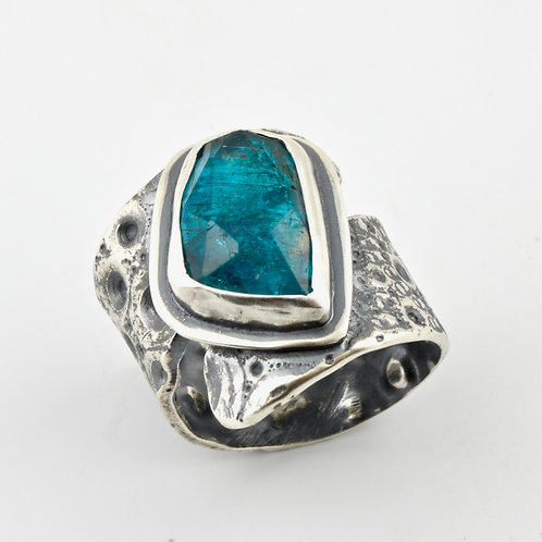 Apatite and Sea Urchin Wrap Ring