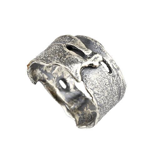 Cherry Tree Bark Wrap Ring, Adjustable