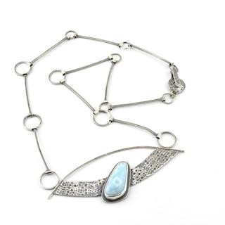 Larimar and Sea Urchin Necklace