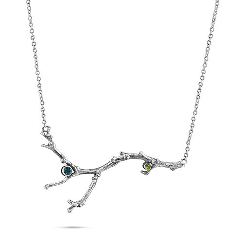 Twig and Gemstone Necklace