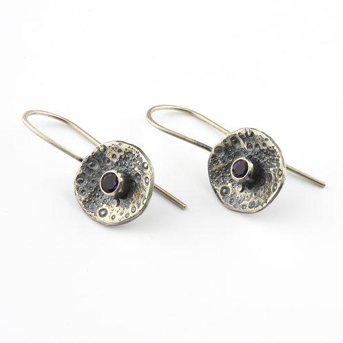 Sea Urchin and Gemstone Drop Earrings