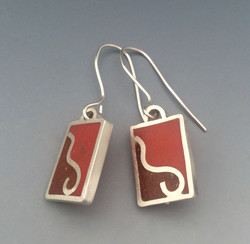 Chile Powder and Resin Earrings
