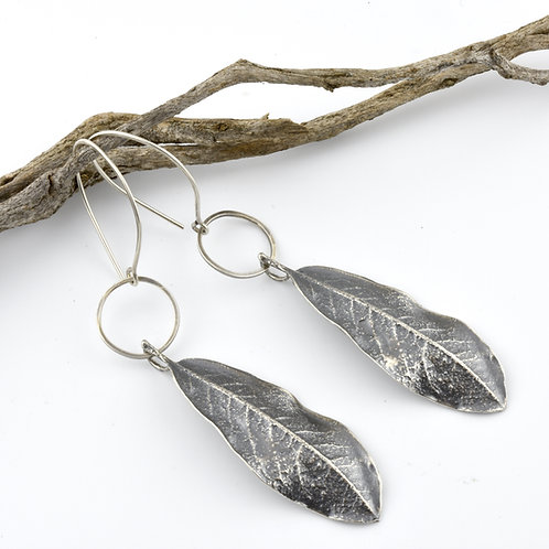 Myrtlewood Leaf Earrings