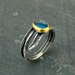 Blue Topaz and Okra Ring.jpg