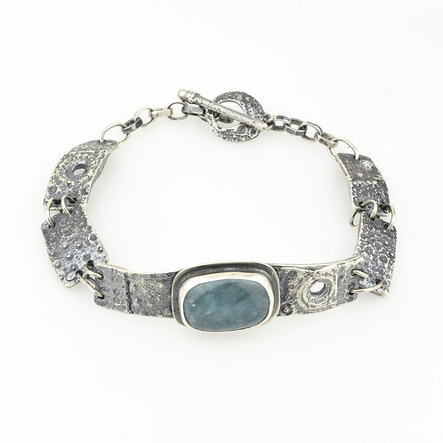Aquamarine and Sea Urchin Bracelet