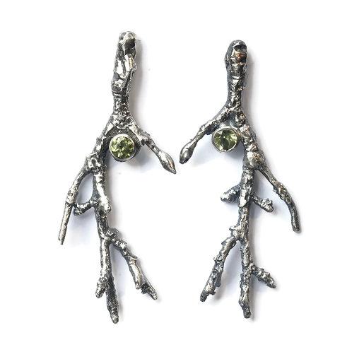 Twig and Gemstone Earrings