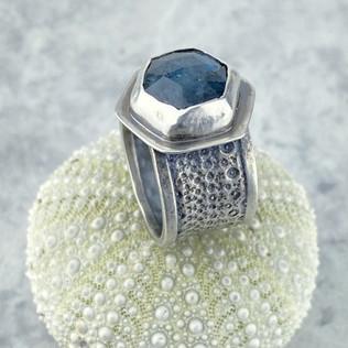 Kyanite Sea Urchin Ring, Size 9