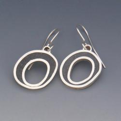 Black Ellipse Earrings