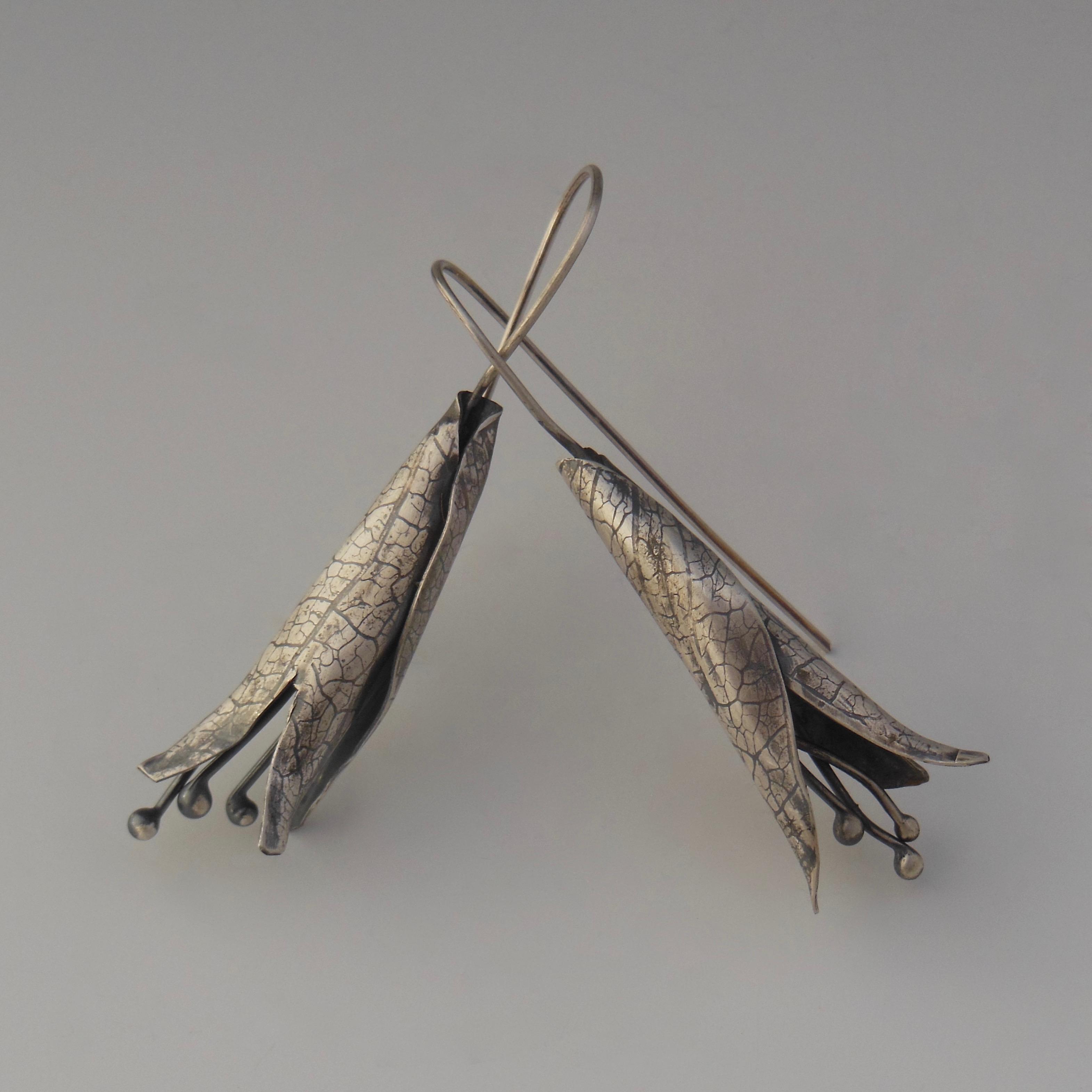 Small Botanical Pod Earrings.