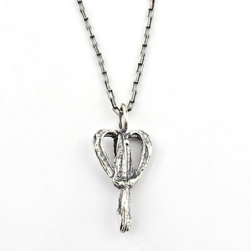 Bleeding Heart Charm Necklace
