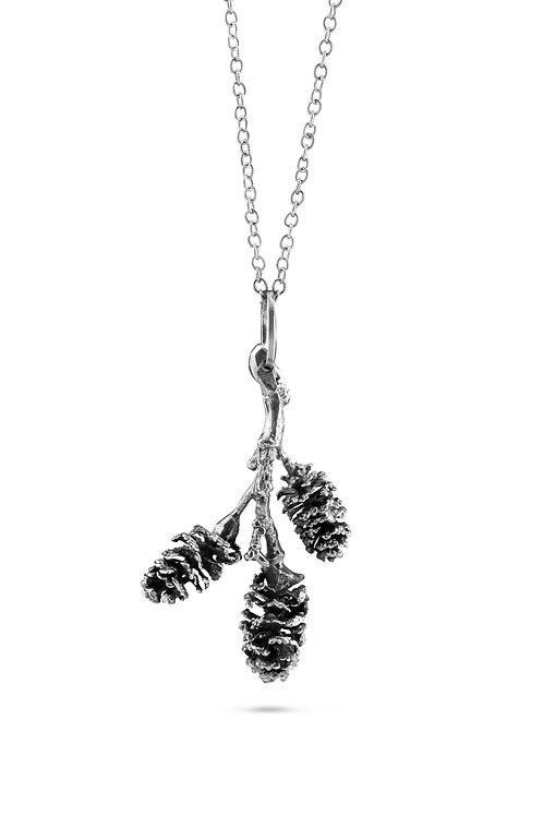 Three Alder Cone Necklace