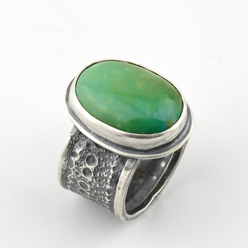 Turquoise and Sea Urchin Ring