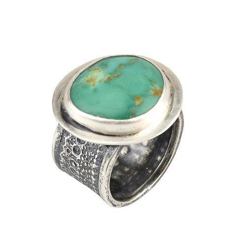 Kingman Turquoise Sea Urchin Ring