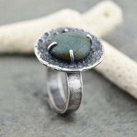 beachstone and urchin ring