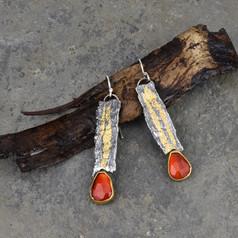 One of Kind Bark Earrings