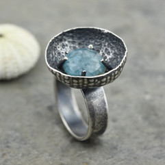 quartz and urchin ring