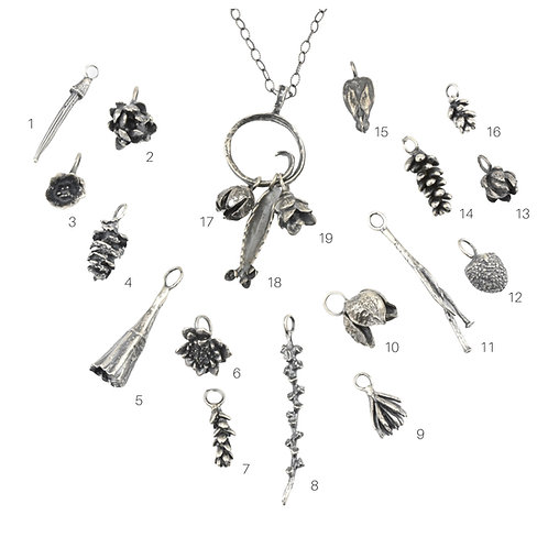 Botanical Charm Necklace:  Choose Your Charms