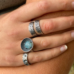 Marine Life Silver Rings