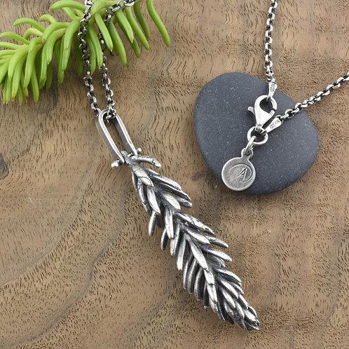 Sedum Sprig Hinged Necklace