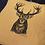 Thumbnail: Coussin carré lin Cerf / Marmotte XL
